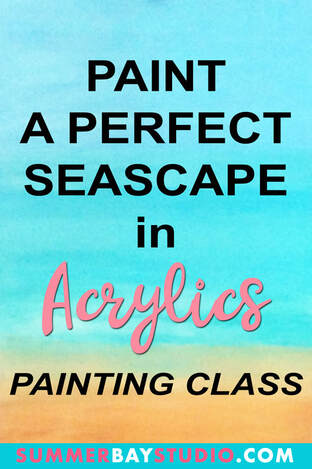 Paint a Perfect Seascape in Acrylics Painting Class